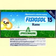 Fisiosol 15 Cobre - Rame - 20 ampollas - Specchiasol
