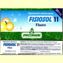 Fisiosol 11 Fluor - Fluoro - 20 ampollas - Specchiasol