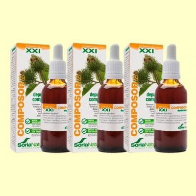 Composor 19 Depulan Complex S XXI - Pack 3 x 50 ml - Soria Natural