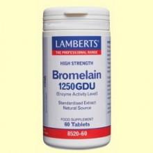 Bromelina 1250 GDU Enzimas de Piña - 60 tabletas - Lamberts