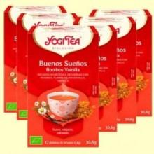 Buenas Noches Rooibos Vainilla Bio - Pack 6 x 17 infusiones - Yogi Tea