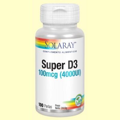 Super D3 4000 UI - 100 perlas -  Solaray