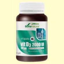 Vit D3 2000 UI - Vitamina D3 - 60 comprimidos - Soria Natural
