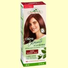 Crema Colorante Cubre Canas Henna Caoba - 80 ml - Corpore Sano