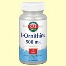 L-Ornithine 500 mg - 50 comprimidos - Laboratorios Kal