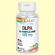 DLPA DL Phenylalanine 500 mg - 60 cápsulas - Solaray