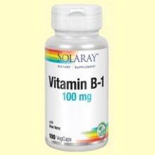 Vitamina B1 - 100 cápsulas - Solaray