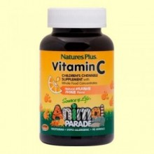 Vitamina C Masticable para Niños Animal Parade - 90 comprimidos - Natures Plus