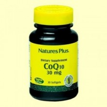 Coenzima Q-10 30 mg - Antioxidante - Natures Plus - 30 perlas