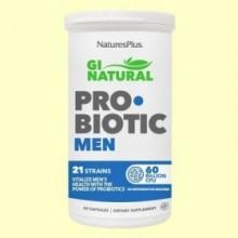 GI Natural Pro Biotic Men - 30 cápsulas - Natures Plus