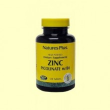 Picolinato de Zinc - Minerales - 120 comprimidos - Natures Plus