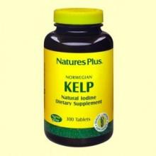Yodo - Algas Kelp - 300 comprimidos - Natures Plus