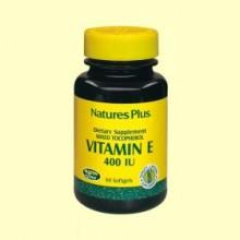 Vitamina E 400 UI - 60 perlas - Natures Plus