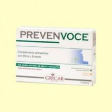 Prevenvoce - Afonía - 30 comprimidos - Gricar