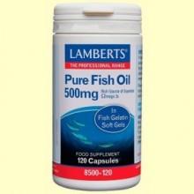 Aceite de Pescado puro 500 mg - 120 cápsulas - Lamberts