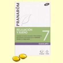 Oléocaps + 7 Relajación y Sueño Bio - 30 cápsulas - Pranarom