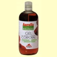 Gel de ducha y baño corporal a base de propóleo y naranjo dulce - Dietéticos Intersa - 500 ml.