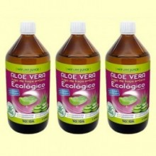 Jugo de Aloe Vera Eco - Hoja Entera - Pack 3 x 1 litro - Tongil
