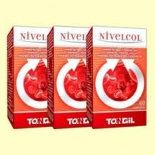 Nivelcol - Colesterol - Pack 3 x 60 cápsulas - Tongil