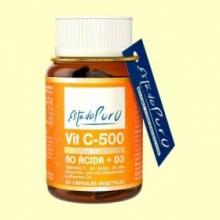 Vitamina C 500 No Ácida y D3 - 60 cápsulas - Tongil
