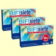 Bifisiete - Flora intestinal -  Pack 3 x 30 cápsulas - Tongil