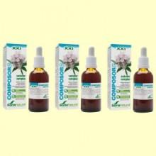 Composor 5 Sedaner Complex S XXI - Pack 3 x 50 ml - Soria Natural