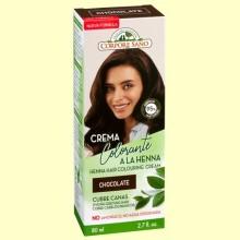 Crema Colorante Cubre Canas Henna Chocolate - 80 ml - Corpore Sano