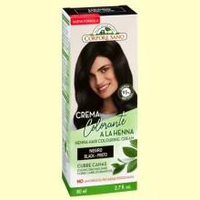 Crema Colorante Cubre Canas Henna Negro - 80 ml - Corpore Sano