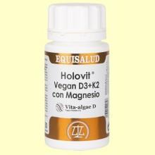 Holovit Vegan D3 y K2 Magnesio - 50 cápsulas - Equisalud