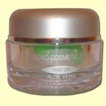 Crema facial Aloe Vera - Ceramidas + Aloe Vera - Tecno cosmetic cfn - 30 cápsulas *