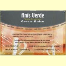 Anís Verde - 20 filtros - Soria Natural