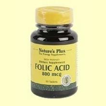 Vitamina B9 - Ácido Fólico - Natures Plus - 90 comprimidos