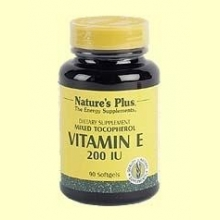 Vitamina E 200 UI - Natures Plus - 90 perlas