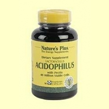 Acidophilus - Prebiótico - Natures Plus - 90 vegicaps