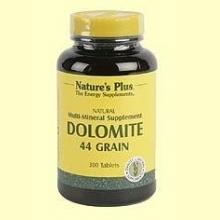 Dolomita - Calcio y Magnesio - Natures Plus - 300 comprimidos