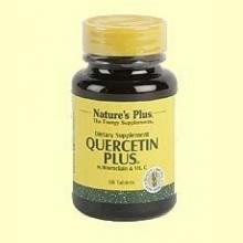 Quercetín Plus - Vitamina C y Bromelina - Natures Plus - 60 comprimidos