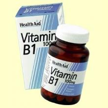 Vitamina B1 - Tiamina 100 mg - 90 comprimidos - Health Aid