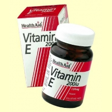 Vitamina E Natural 200 UI- 60 cápsulas vegetales - Health Aid