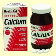 Calcio 600 mg - 60 comprimidos masticables - Health Aid