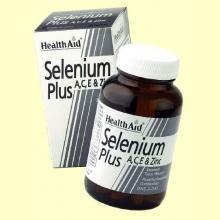 Selenio Plus con Vitaminas A, C, E y Zinc - 60 comprimidos - Health Aid