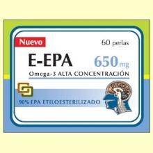 E-EPA - Omega-3 con 90% de EPA 650 mg – 60 perlas – Dieticlar