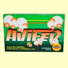 Avifer - Ayuda contra las anemias - 30 comprimidos - Robis
