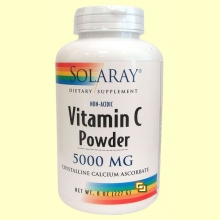 Vitamin C Powder 5000 mg - 227 gramos - Solaray