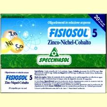 Fisiosol 5 Zinc-Niquel-Cobalto de Specchiasol