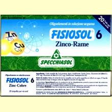 Fisiosol 6 Zinc-Cobre de Specchiasol