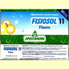 Fisiosol 11 Flúor (Fluoro) de Specchiasol
