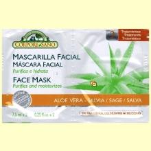 Mascarilla Facial Aloe Vera y Salvia - 7,5 ml x 2 - Corpore Sano